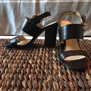 Coach black block heel sandals size 6.5